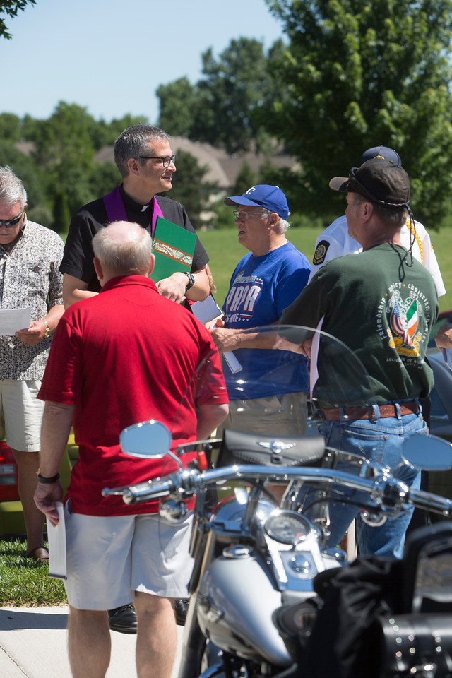 Motorcycle Blessing at St. Michael the Arch Angel, Leawood