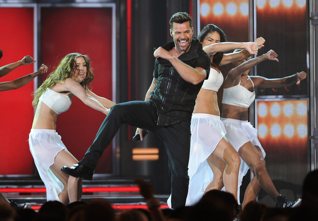 . Ricky Martin performs on stage at the Billboard Music Awards at the MGM Grand Garden Arena on Sunday, May 18, 2014, in Las Vegas. (Photo by Chris Pizzello/Invision/AP)