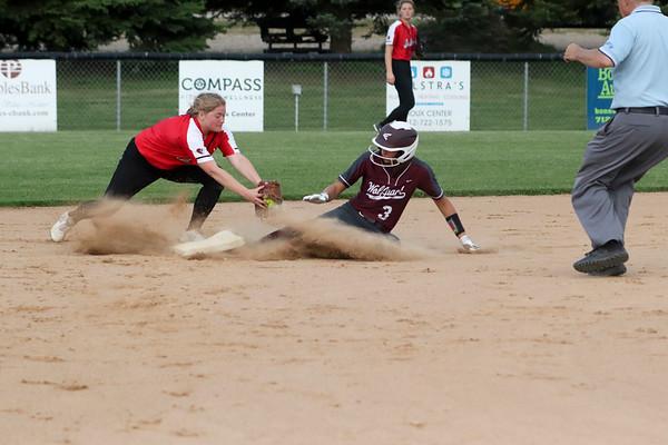 Western Christian softball versus Spirit Lake 6-3-19