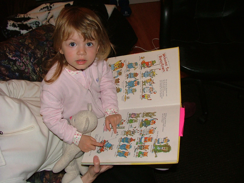 Reading Richard Scarry's Things People Do All Day