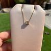 .70ct French Cut Diamond Bezel Pendant, 18kt Yellow Gold 20