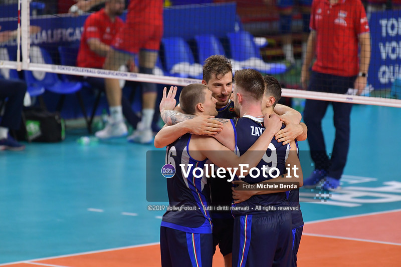 ITALIA vs SERBIA, 2019 FIVB Intercontinental Olympic Qualification Tournament - Men's Pool C IT, 11 agosto 2019. Foto: Michele Benda per VolleyFoto.it [riferimento file: 2019-08-11/ND5_7177]