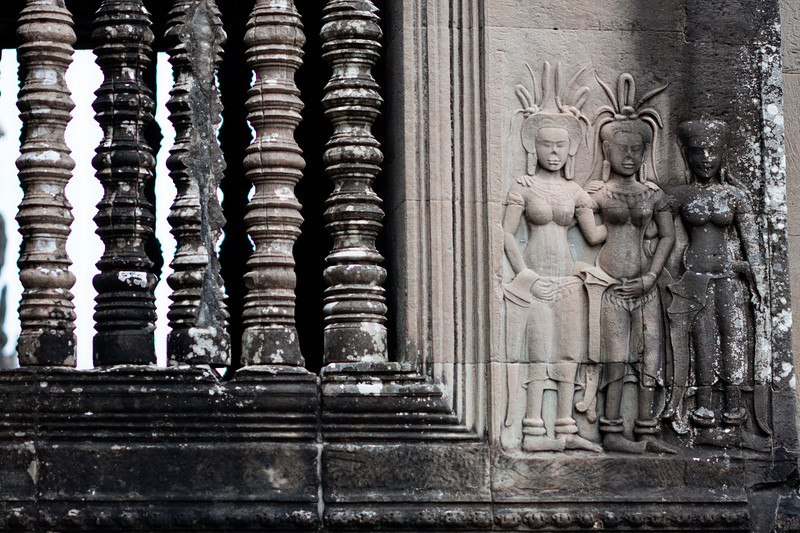 Details of the temple. Vishnu is everywhere.