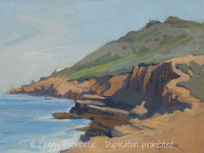 Sunset Cliffs Plein Air, 9x12, oil panel  G0616  SOLD