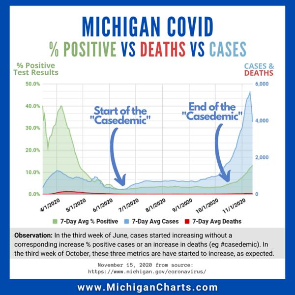 November 15 - Cases Deaths Positive Testing - MichiganCharts.png
