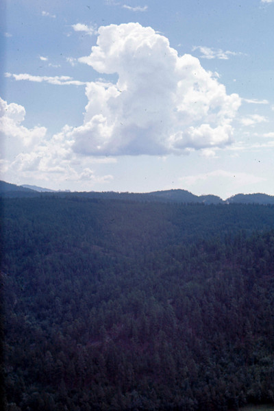 1969-08 - clouds over Black Hills SD