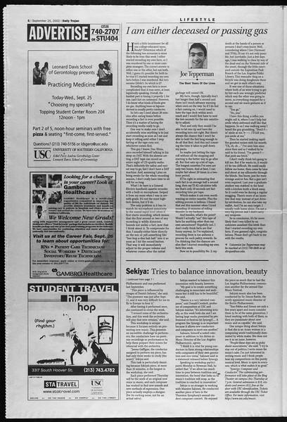 Daily Trojan, Vol. 147, No. 21, September 25, 2002