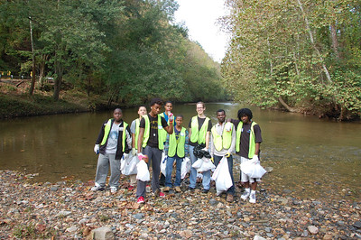 10.17.13 Cleanup along Patapsco River in Patapsco Valley State Park with the Phillips School