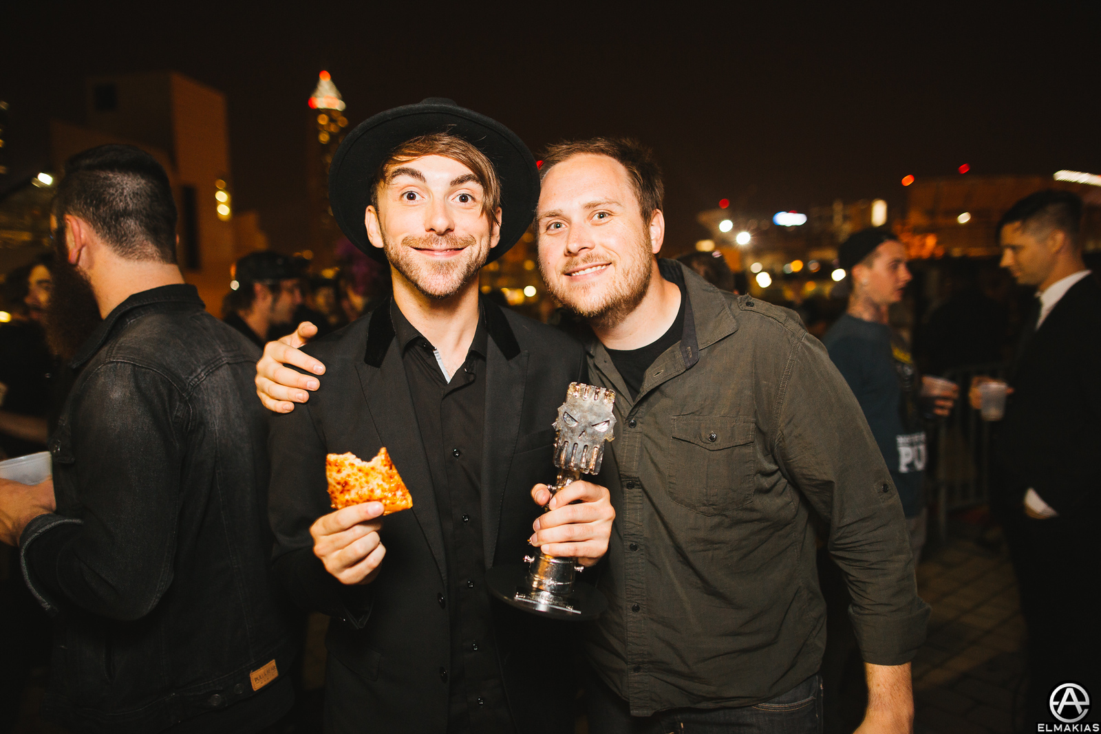 Alex Gaskarth of All Time Low and Ryan Mendez of Yellowcard
