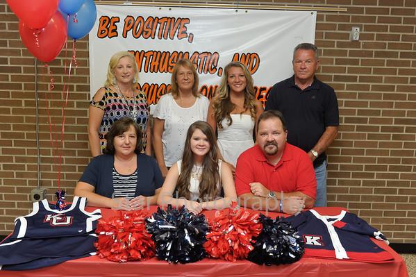 Lauren Hyatt and Vanessa Nanney Signing 8-7-2013