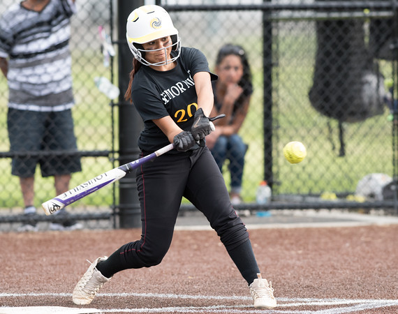 05/17/18 Wesley Bunnell | Staff New Britain softball defeated Wethersfield on Thursday afternoon at Chesley Park. Cristina Velazquez (3).