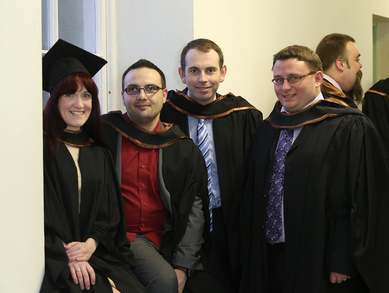 Pictured are Emer Quinn, Waterford, Thomas Sutor, Waterford, Kieran Cronin, Cork and Joe Noonan, Cork who graduated in HDip. in Science in Business Systems. photo Patrick browne