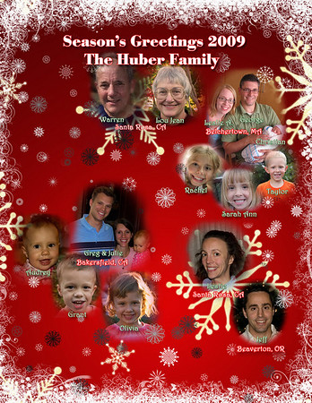 The Huber Christmas Letter 2009