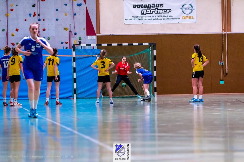 Handball Bezirksklasse w. B-Jugend: TV Hardheim-JSG Neck-Koch 2 14:19