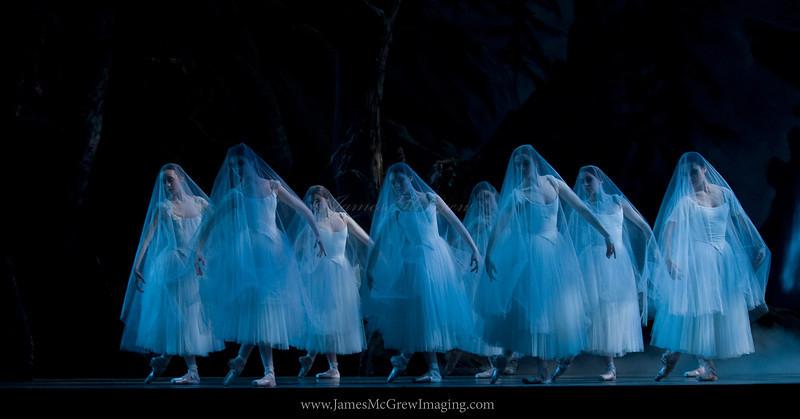 "OBT company dancers as spirits in Oregon Ballet Theatre's premier of Lola de Avila's ""Giselle."""