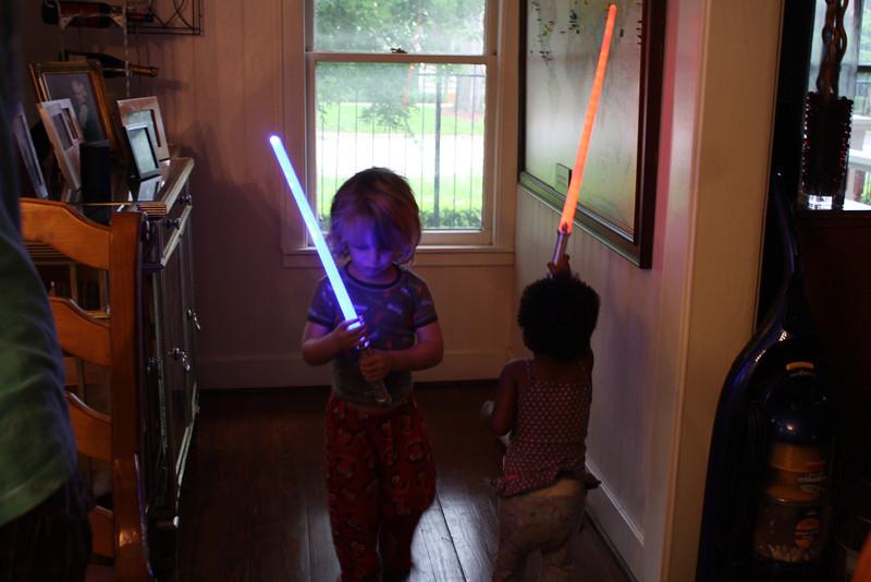 Let the sword fights begin!