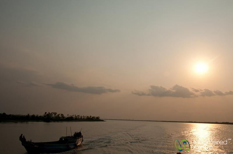 Boat at Dusk Near Khulna, Bangladesh