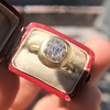 2.05ct Antique Cushion Cut Diamond Chunky Bezel with pave setting GIA J SI2 12