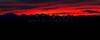 Sunrise over the Gore Range, CO