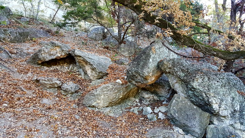 Interesting rocks that slid down at some point