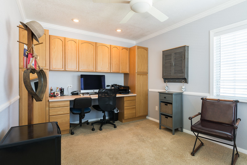 Home office is just off the master bedroom