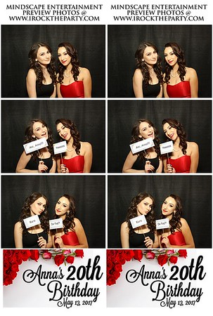 Anna's 20th Birthday- Photo Booth Pictures