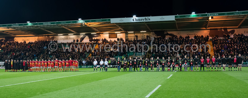 Northampton Saints vs Dragons, Anglo Welsh Cup, Franklin's Gardens, 11 November 2017