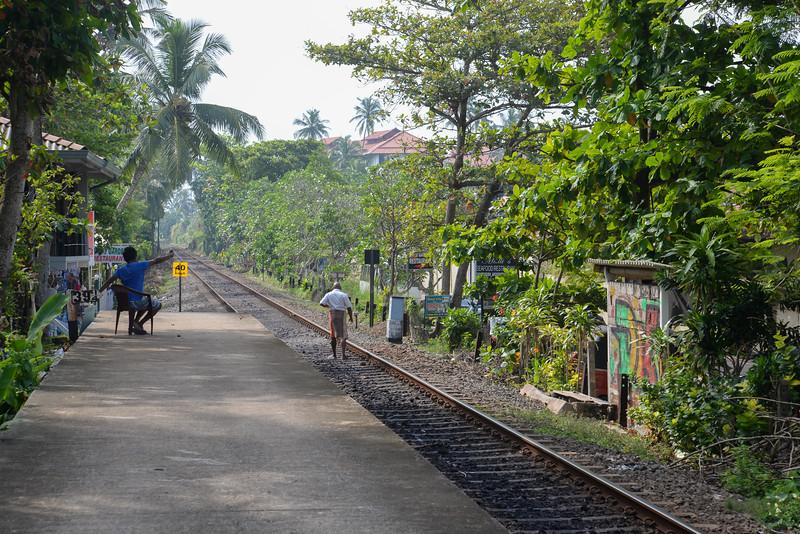 Gare de Bentota au matin
