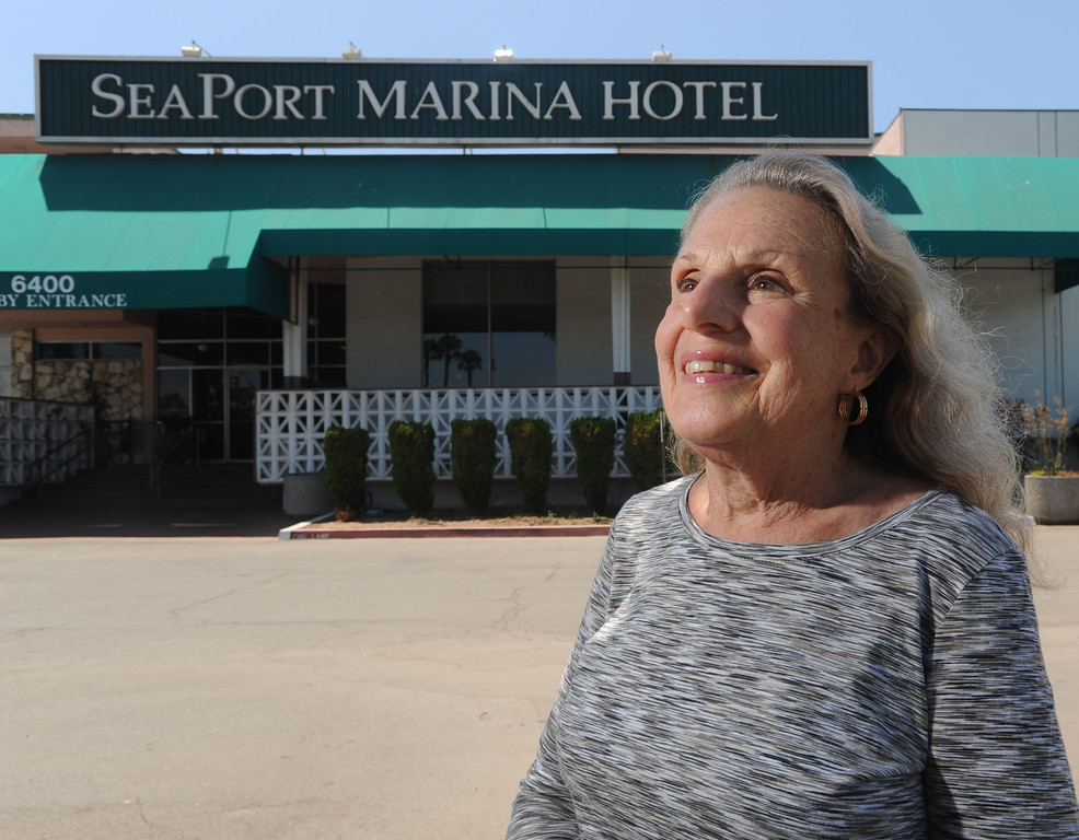 """. The SeaPort Marina Hotel in Long Beach turned 50 this year and had once been the jewel of resorts in the city. The resort is on harder times, with the owners wanting to redevelop the land but plans have been denied. Preservationists and Long Beach Heritage Board member Louise Ivers wants the main building, the Empire Ballroom, to be saved for its original architectural features that are prime examples of the \""""googie\"""" style. 20130805 Photo by Steve McCrank / Staff Photographer"""