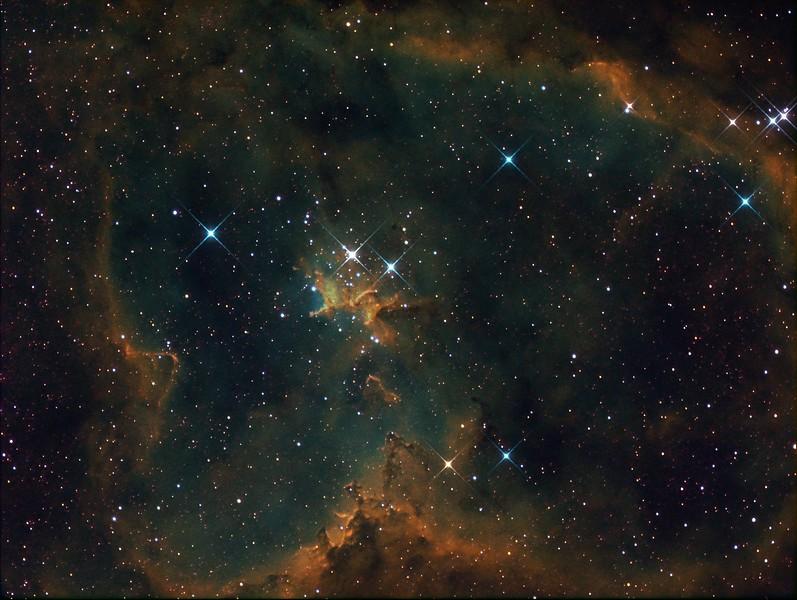 IC1805 (Hubble Palette)
