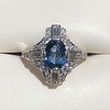 1.41ctw Art Deco Style Aqua and Diamond Dinner Ring 0