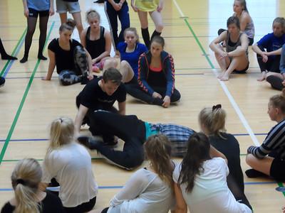 Gymnastiktræning i oktober