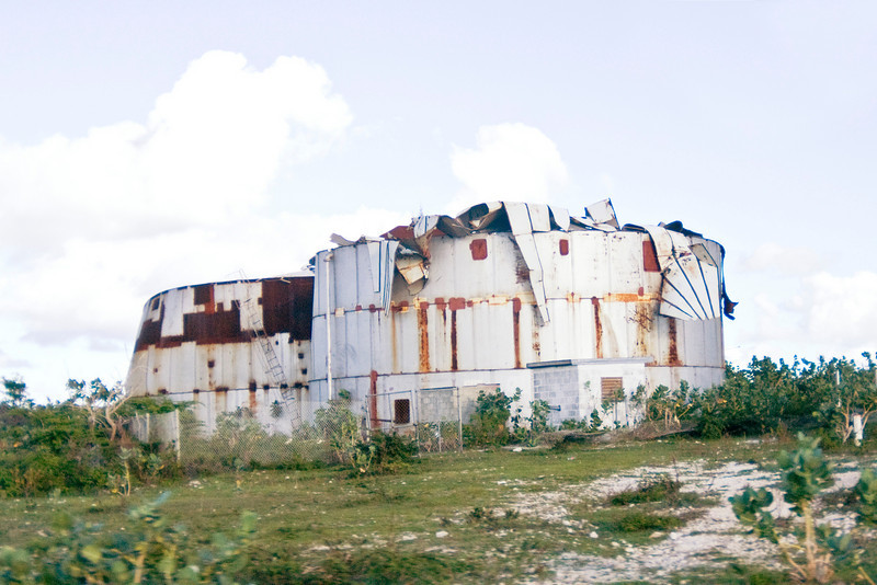 Storage building destroyed in Hurricane Ike when it hit Grand Turk