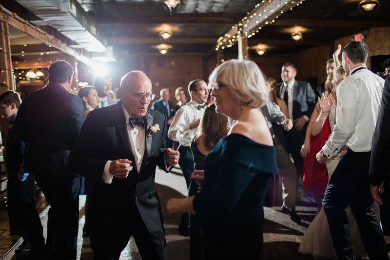 Grandfather dancing at Meg and Kyle's Bluemont Vineyards wedding. Photos by the best Washington DC wedding photographer Jalapeno Photography.