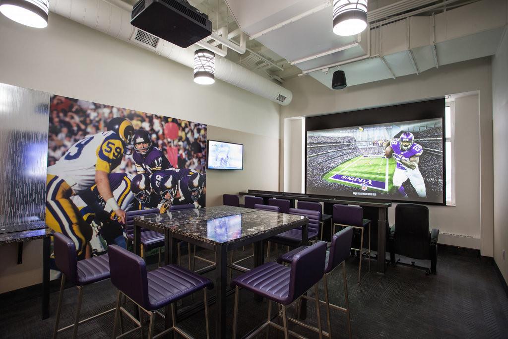 ". Minnesota Vikings season-ticket holders will get a chance this week to see firsthand what it will look like inside the new stadium, scheduled to open in 2016. As part of its effort to get current season-ticket holders to re-up in the new facility, the team is scheduling appointments starting later this week for fans to tour a 7,500-square-foot ""preview center.\""  (Photo courtesy of the  Minnesota Vikings)"
