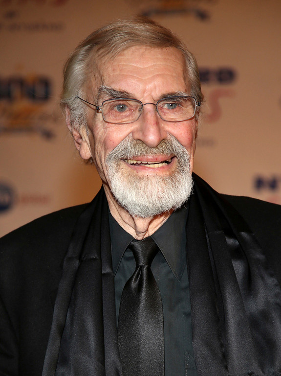 . FILE - In this March 2, 2014, file photo, Martin Landau arrives at the 24th Night of 100 Stars Oscars Viewing Gala at The Beverly Hills Hotel in Beverly Hills, Calif. Landau died Saturday, July 15, 2017, of unexpected complications during a short stay at UCLA Medical Center, his publicist Dick Guttman said. He was 89. (Photo by Annie I. Bang /Invision/AP, File)