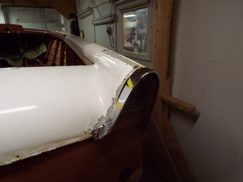Starting to fit the rear deck and the chrome ends to the fins.