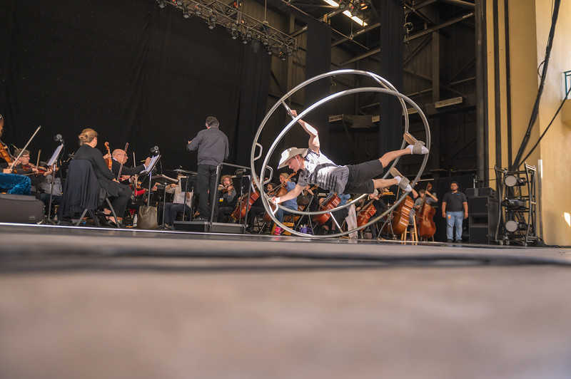 Rehearsal for Cirque du Cinema