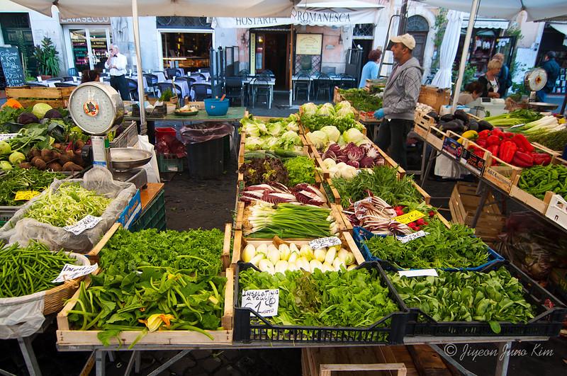 Fresh vegetables at Campo dei Fiori