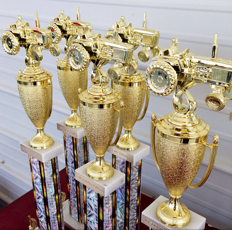 . Trophies for the tractor pull competition at the Boonville Oneida County Fair on Thursday, July 24, 2014 in Boonville. The fair runs through Sunday, July 27, 2014. JOHN HAEGER-ONEIDA DAILY DISPATCH @ONEIDAPHOTO ON TWITTER