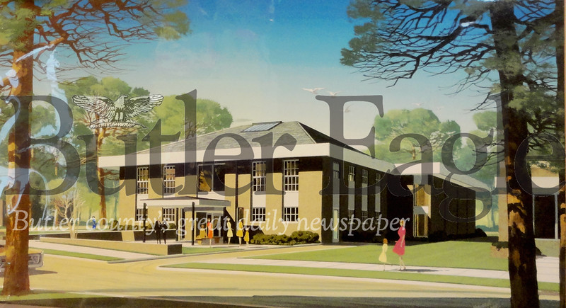 2/24 1967 architect's rendering of building renovations,