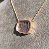 'INV My Letter' Pale Pink Glass Rebus Pendant, by Seal & Scribe 16