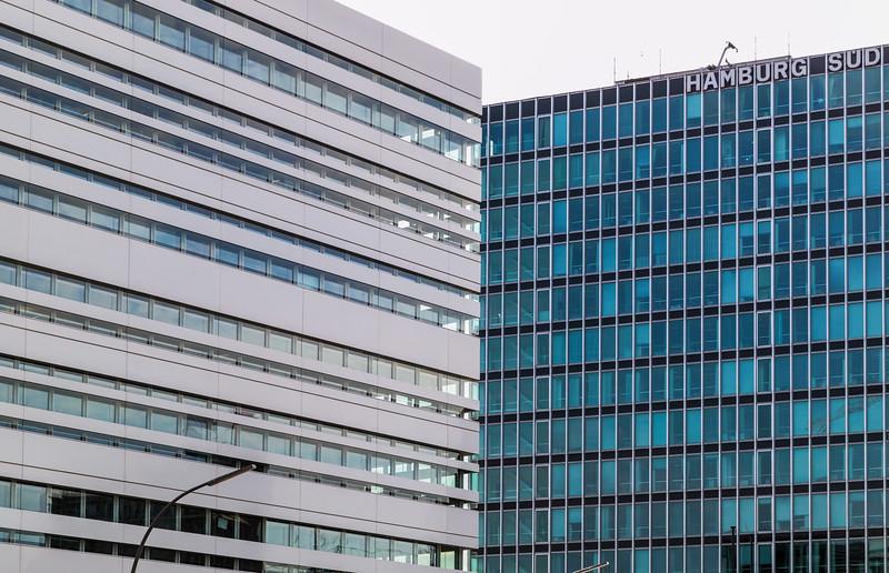 Architektur in Hamburg Bürohäuser an der Willy Brandt Straße Hamburg Süd
