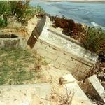 Eroding Muslim Beach Cemetery