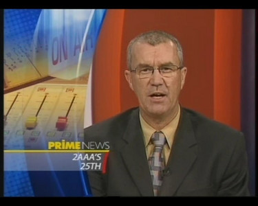 19/7/06 Prime News covers 2AAA's 25th birthday