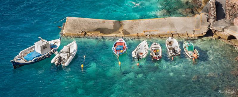 Boats of Santorini, Greece
