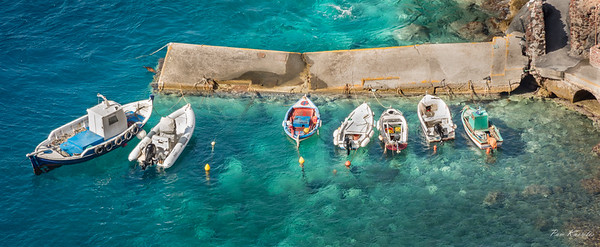 Boats of Santorini, Greece