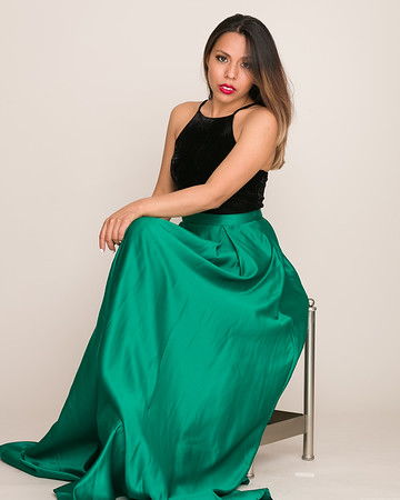 Green and Black Seated