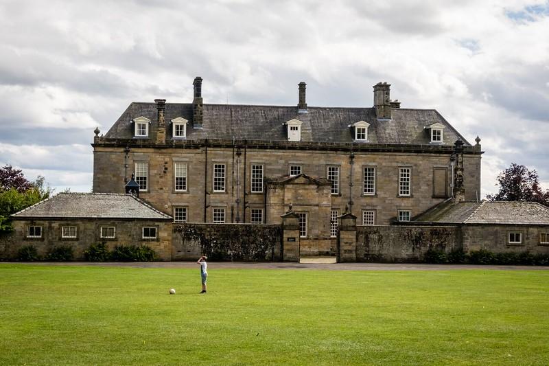 English stone manor house