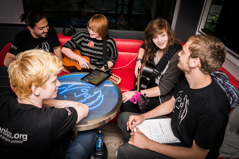 2013_08_07, Alex Martinelli, apple, dublin, guitar, iPad, Ireland, Jamie Thompson, JLETB, lennon table, Music generation, national concert hall, Pietro Rossi, student session, students, table, ukelele, eu.lb.org